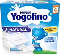 Nestlé, Yogolino Postre lácteo Natural para bebés a partir de 6 meses, Pack of 6 (4x100g)