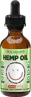 SoCalHempCo – Ultra Premium Hemp Oil 300mg Full Spectrum Hemp Extract Tincture – 1 FL. Oz.
