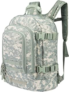 Tactical Rucksacks Backpack Expandable Large 3 Day Assault Pack Army Molle Water Resistant Comfortable Daypack with Hydration Compartments for Military Hunting Recreation Trekking School Bug Out Bag