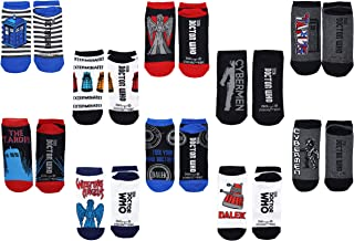 Doctor Who Socks Merchandise (10 Pair) - (Women) Dr Who Gifts Cosplay Low Cut Socks - Fits Shoe Size: 4-10 (Ladies)