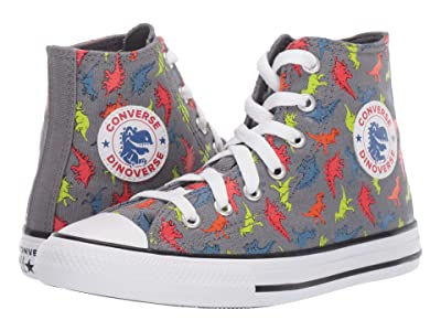 Converse Kids Chuck Taylor(r) All Star(r) Dinoverse Hi (Little Kid/Big Kid) (Cool Grey/Black/White) Boys Shoes