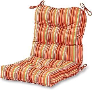 Greendale Home Fashions Outdoor Seat/Back Chair Cushion in Coastal Stripe, Watermelon