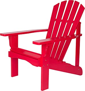 Shine Company 4617TR Rockport Adirondack Chair, OneSize, Tomato Red