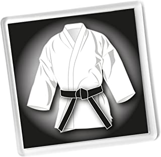 Ju Jitsu clasificaci/ón Pass regalo Negro cintur/ón blanco GI regalo llavero Judo Kickboxing Karate