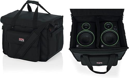 "Gator Cases Studio Monitor Tote Bag Holds (2) Powered Monitors Up to 5"" Driver Range; Fits JBL, Mackie, KRK, & More (..."