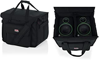 "Gator Cases Studio Monitor Tote Bag Holds (2) Powered Monitors Up to 5"" Driver Range; Fits JBL, Mackie, KRK, & More (G-STU..."