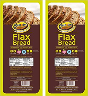 Shibolim FlaxSeed Bread 1lb (2 Pack) Low Carb, Only 1 Net Carb Per Serving, Keto Friendly, Rich in Fiber & Protein, Vegan,...