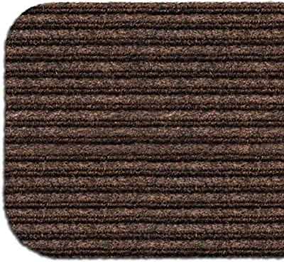 House, Home and More Set of 12 Skid-Resistant Double-Ribbed Carpet Stair Treads - Bittersweet Brown - 8 in. X 27 in. - Several Other Sizes to Choose from