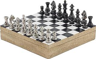 Deco 79 Wooden Games, Small, Black, White