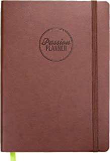 Academic Passion Planner Large Aug 2019 - Jul 2020 - Goal Oriented Weekly Agenda, Reflection Journal (A4-8.3 x 11.7 in) Monday Start (Bold Brown)