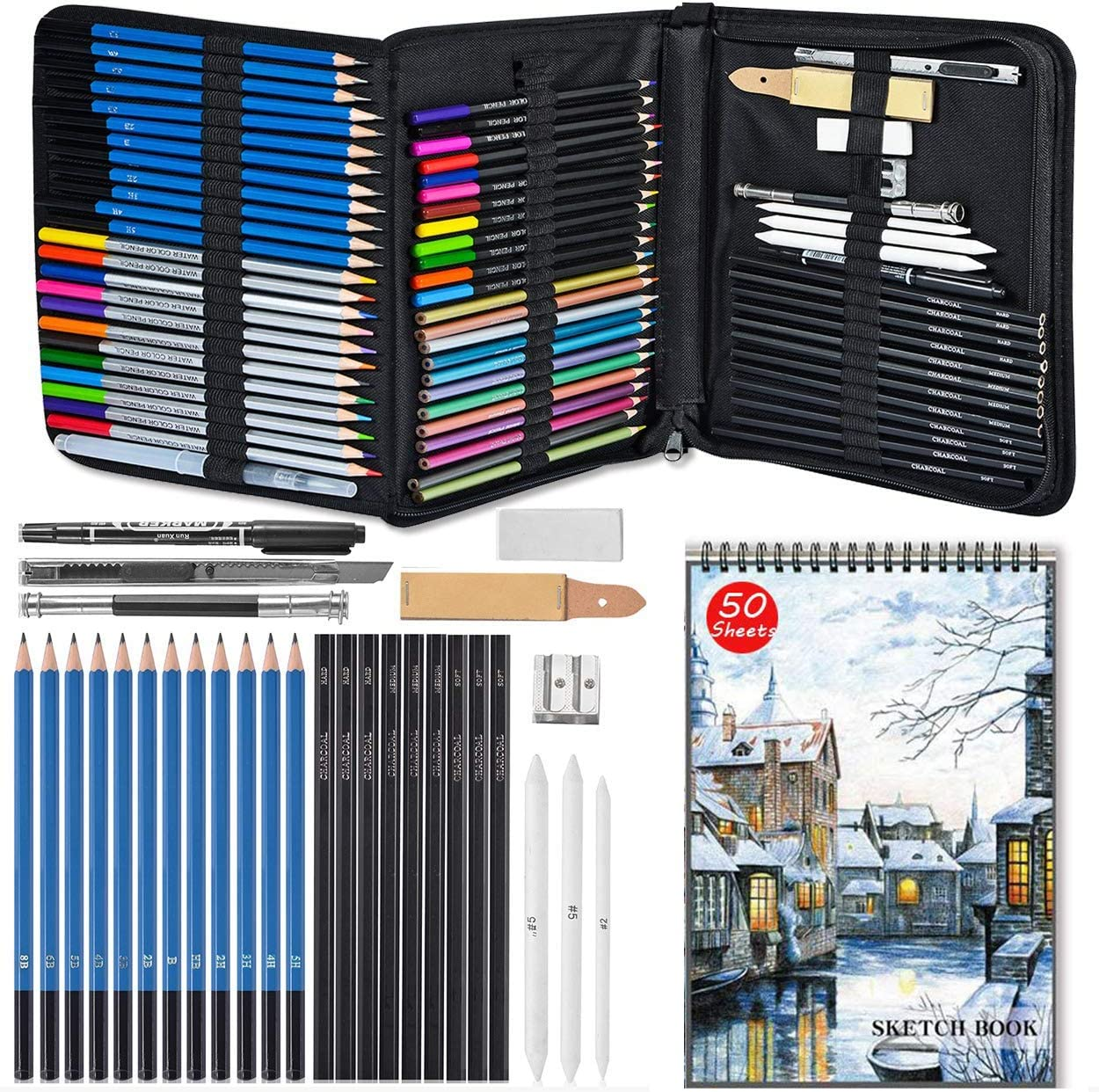 Soosee Drawing Pencils and Sketch A Fixed price for sale Kit Complete Set online shopping 72-Piece