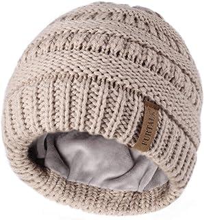 قبعات FURTALK للأطفال والبنات والأولاد في فصل الشتاء منسوجة قبعة تزلج بوبل قبعة أطفال للأطفال من سن 1-6 سنوات