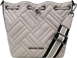 Michael Kors Peyton SmallBucket Crossbody Handbag Bag Cement