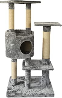 Amazon Basics Cat Tree with Cave - Medium, Gray