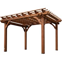 Leisure Time Products 12' x 10' Backyard Cedar Pergola (Do It Yourself)