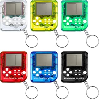 Sumind 12 Pieces Game Keychain Brick Game Console Keychain Mini Video Game Brick Game Keychain Classical Portable Game Con...