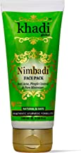 Khadi Global Natural Nimbadi Face Pack with Tulsi, Neem, Kaolin and Bentonite Clay for Acne Pimple Control and Pore Minimizing