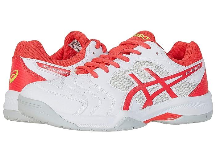 ASICS  GEL-Dedicate 6 (White/Laser Pink) Womens Tennis Shoes
