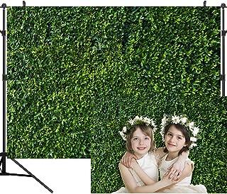 OUYIDA 2,7 x 1,8 m Grüne Blätter Fotografie Hintergrund Blatt Grün Vertikale Textur Hintergrund Geburtstag Party Nahtlos Photo Booth Vinyl Hintergrund PCK41A