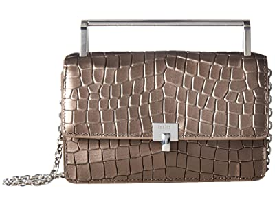 Botkier Lennox Crossbody (Gunmetal Croco) Cross Body Handbags