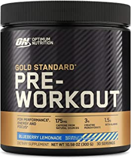 OPTIMUM NUTRITION Gold Standard Pre-Workout with Creatine, Beta-Alanine, and Caffeine for Energy, Flavor: Blueberry Lemona...