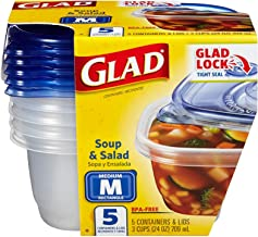 Gladware Soup & Salad Food Storage Container With Lid - 5 Pieces (60796)