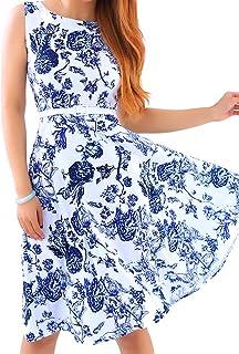 فستان أوميغا هيبورن روكابيلي العتيق للنساء من أوميزين 1950 فستان حفلات كوكتيل متأرجحة مع حزام