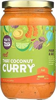 Yai's Thai Red Coconut Curry Sauce 16 Ounce Jar
