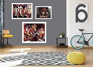 AJ WALLPAPER 3D Attack On Titan Team 3107 Anime Combine Wall Wall Wall Murals UK Angelia, Vinilo (autoadhesivo)., Large