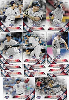 New York Yankees 2016 Topps OPENING DAY Series Complete Mint Hand Collated 15 Card Team Set Featuring Gary Sanchez and Luis Severino Rookie Cards Plus Alex Rodriguez and Others