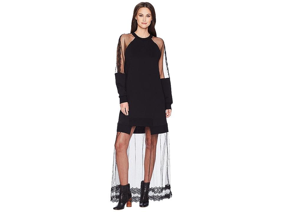 McQ Hybrid Long Dress (Darkest Black) Women
