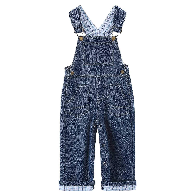 Grandwish Baby Boys' Denim Bib Overall, Jeans Overalls for Toddler, Size 18M-4T