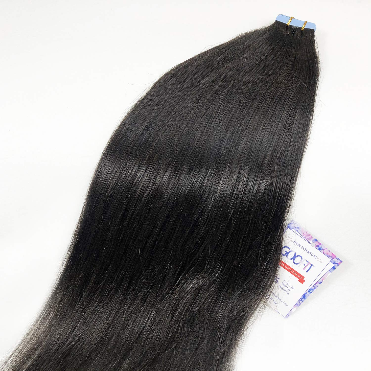 GOOFIT Tape in Hair Extensions 20pcs Remy - 2021 new Real Human 100% sale