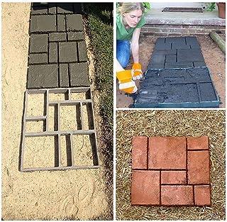 zjchao DIY Pathmate Personalizada Piedra de pavimentación del Molde Cuadrado de jardín al Aire Libre decoración