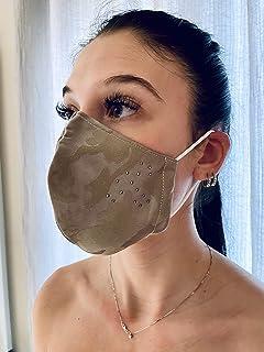 Mascherina Unisex Lavabile 100% cotone mimetico FANGO