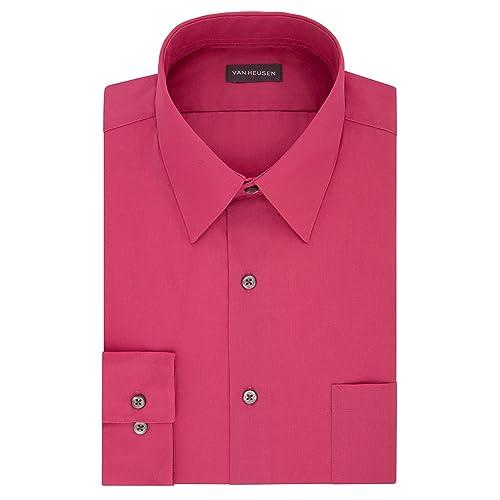 fc633d8bce Van Heusen Men s Poplin Regular Fit Solid Point Collar Dress Shirt
