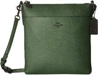 Womens Leather Crossbody Shoulder Handbag Green Small