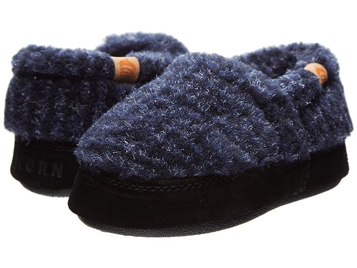 Acorn Kids  Acorn Moc (Toddler/Little Kid/Big Kid) (Blue Check) Boys Shoes