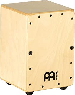 Meinl Mini Cajon Box Drum with Internal Snares - MADE IN EUROPE - Baltic Birch Wood, Miniature Size, 2-YEAR WARRANTY (MC1B)