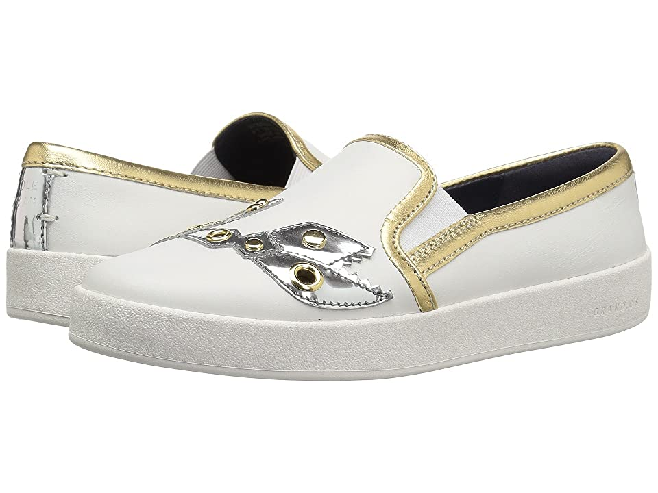 Cole Haan Grandpro Spectator Slip-On (Chalk Leather/Ch Argento Lobster/Optic White) Women's Shoes