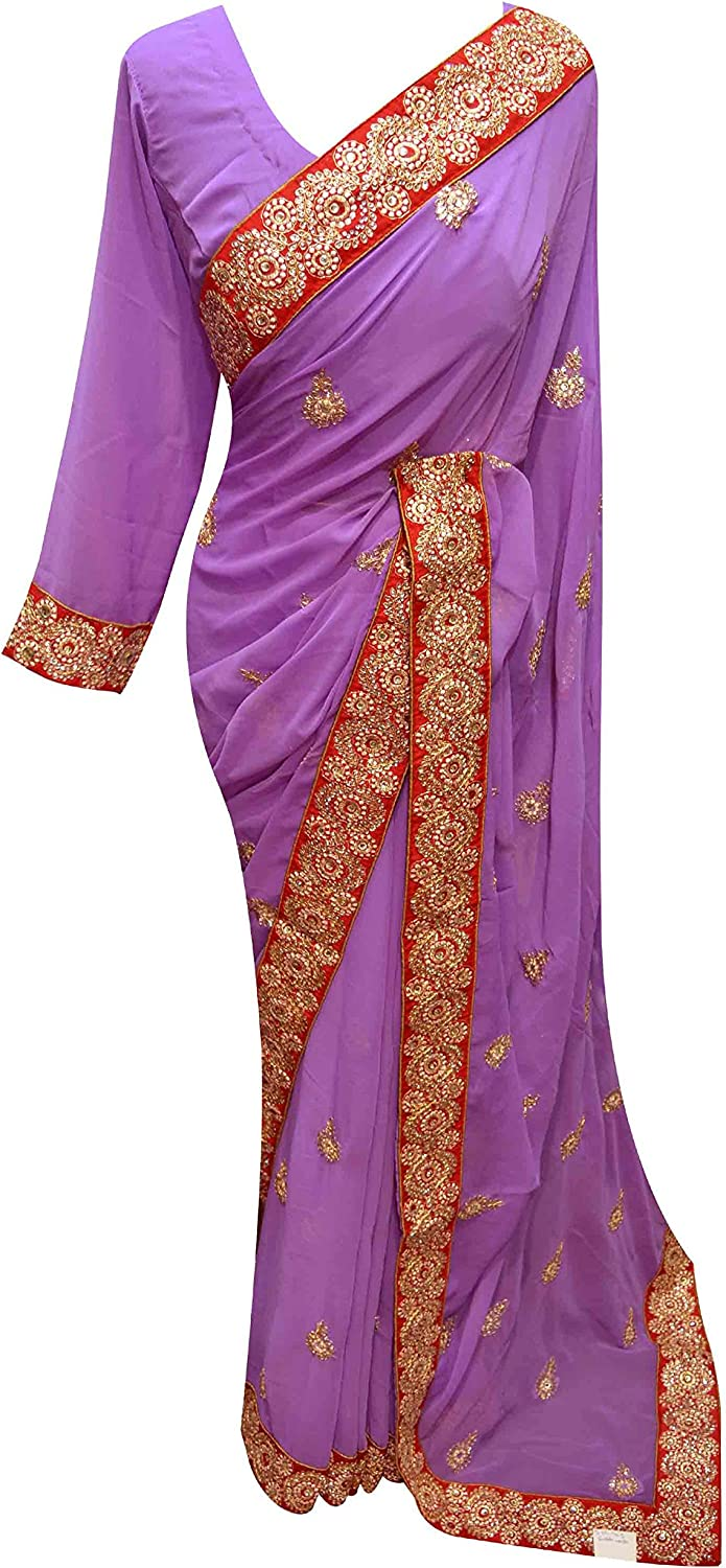 Women clothing purplec with Maroon contrast Border Indian latest fancy Saree 7195