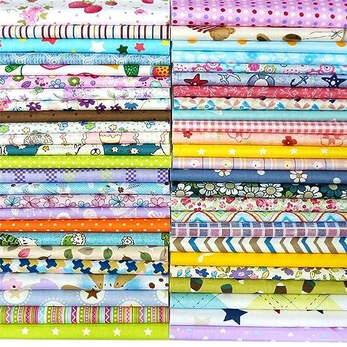 100 pcs en coton 100% Imprimé Craft Tissu Bundle carrés Patchwork peluches DIY Couture Scrapbooking quilting Motif de points Artcraft 15 cm*15 cm