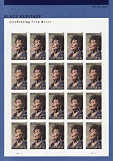 2018 Lena Horne Pane of Twenty Forever Postage Stamps Issued By USPS