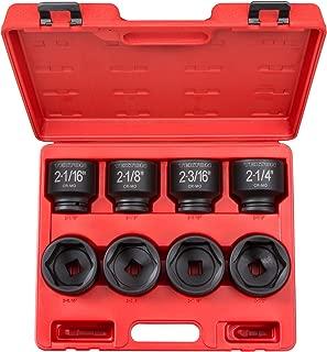 TEKTON 3/4-Inch Drive Shallow Impact Socket Set, Inch, Cr-Mo, 6-Point, 2-1/16-Inch - 2-1/2-Inch, 8-Sockets | 4893