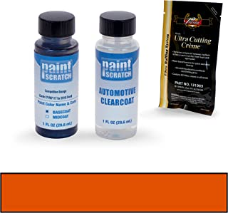 PAINTSCRATCH Competition Orange CY/M7117 for 2016 Ford Mustang - Touch Up Paint Bottle Kit - Original Factory OEM Automotive Paint - Color Match Guaranteed