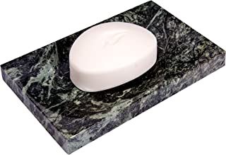 CraftsOfEgypt Green Marble Soap Dish - Polished and Shiny Marble Dish Holder Beautifully Crafted Bathroom Accessory