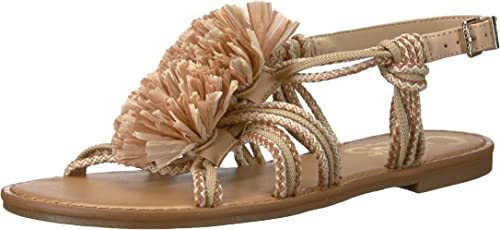 Circus by Sam Edelman Wohommes Bice Flat Sandal, Naked Ivory Ivory Ivory Natural tan, 7 M US 069