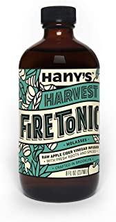 Hany's All Natural Fire Cider Tonic with Blackstrap Molasses 8 oz