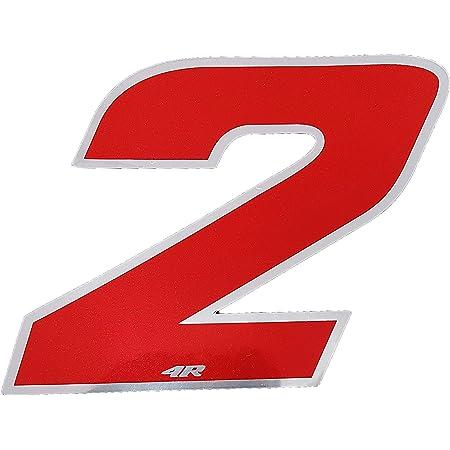 4r Quattroerre It 13092 Startnummer 2 Aufkleber Für Motorräder Weiß 65 X 85 Mm Auto