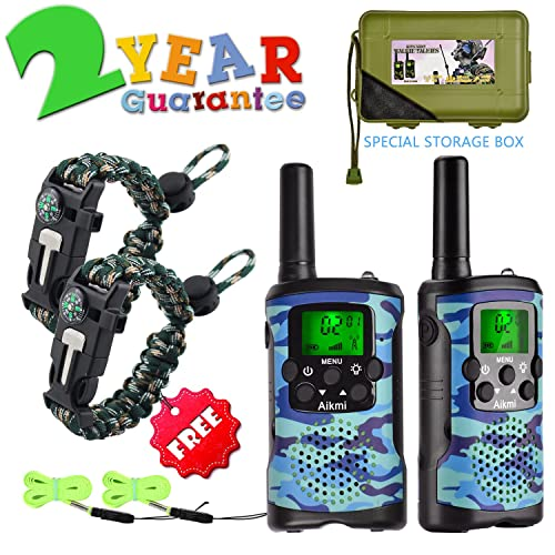 Walkie Talkies For Kids 22 Channel 2 Way Radio 3 Miles Long Range Handheld